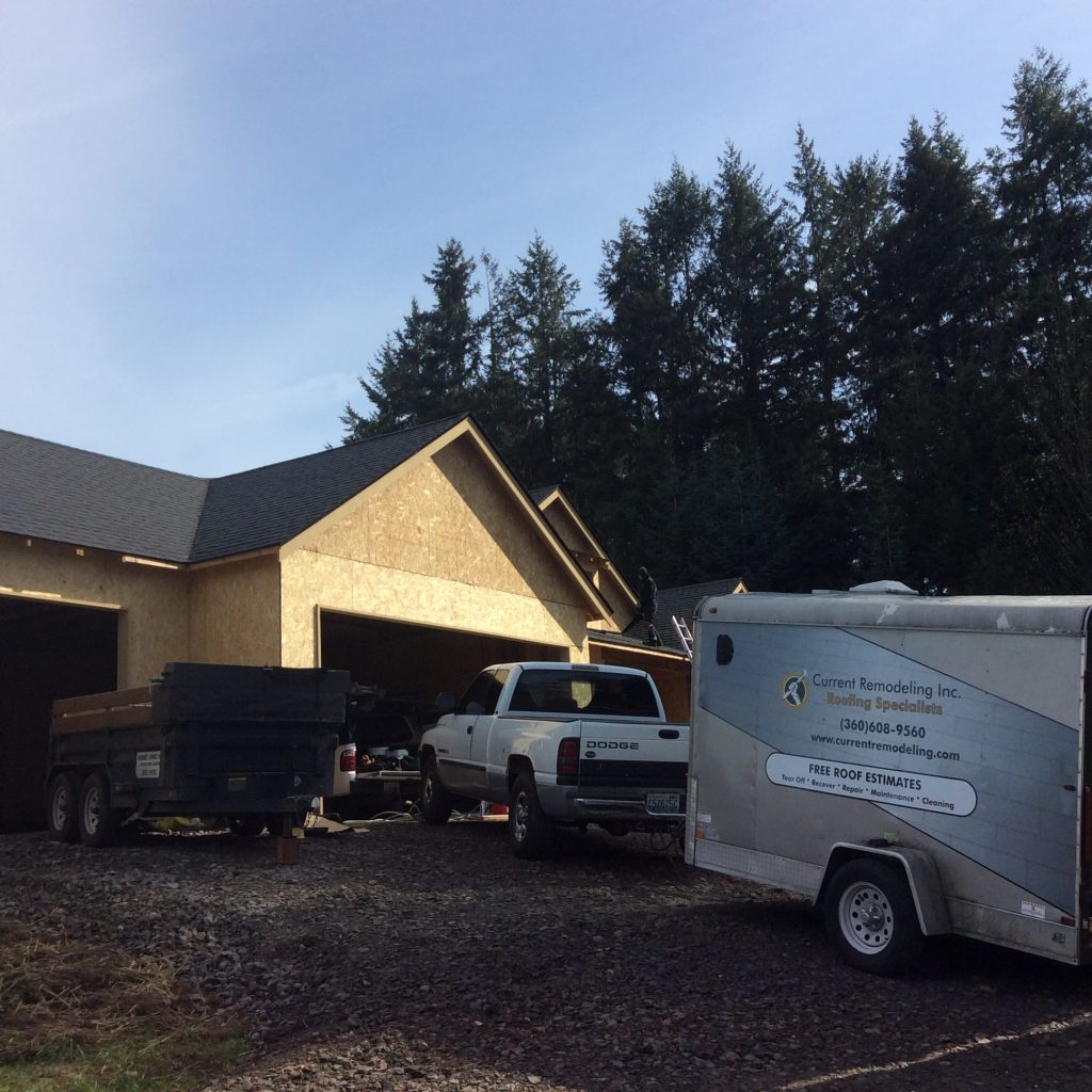 Current Remodeling, Inc. Roofing Crew At Job Site In Vancouver WA